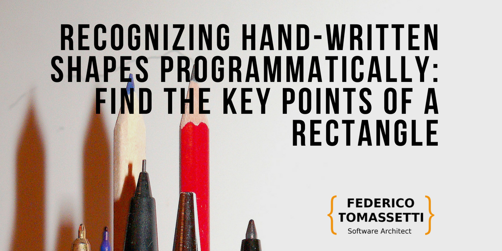 Recognizing hand-written shapes programmatically: find the key points of a rectangle