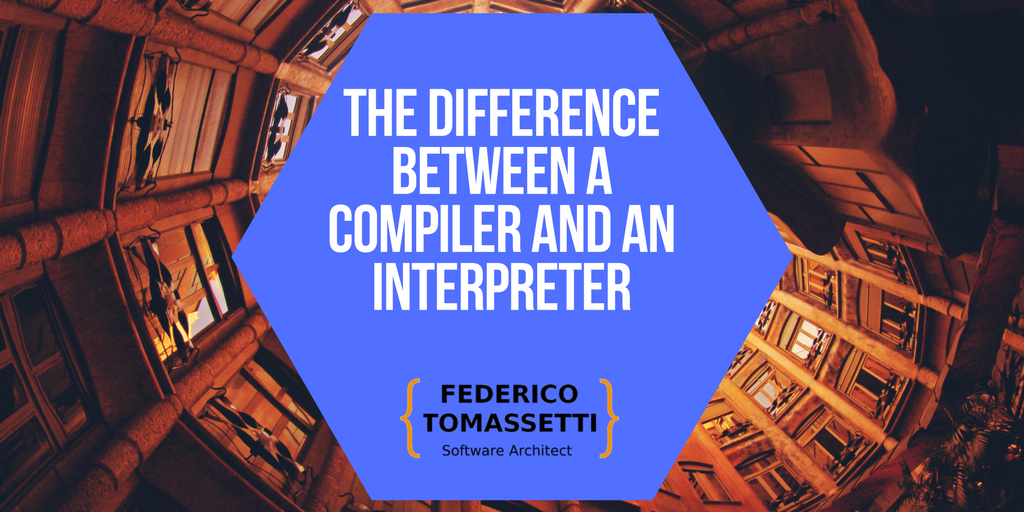 The difference between a compiler and an interpreter